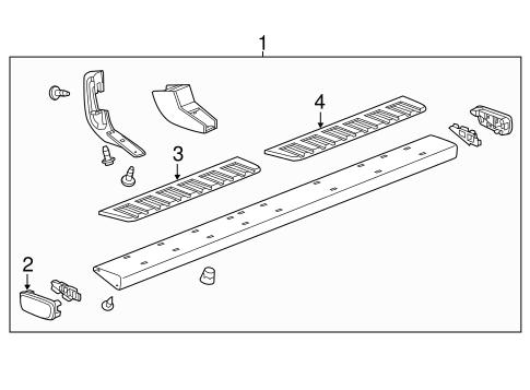 oem 2016 chevrolet tahoe running board parts. Black Bedroom Furniture Sets. Home Design Ideas
