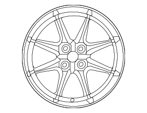 Wheel, Alloy - Mazda (9965-A0-7070)