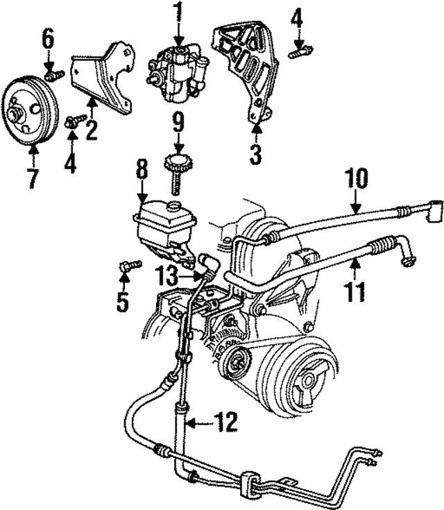 1995 1999 Dodge Neon Power Steering Pump Screw 6504174