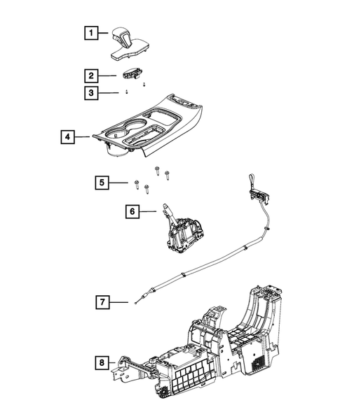 Gearshift Controls and Related Parts for 2019 Jeep Grand Cherokee #0
