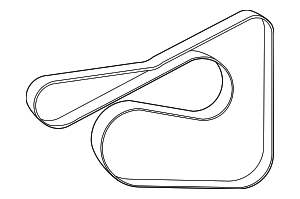Serpentine Belt - Mazda (ZJ38-15-909C)
