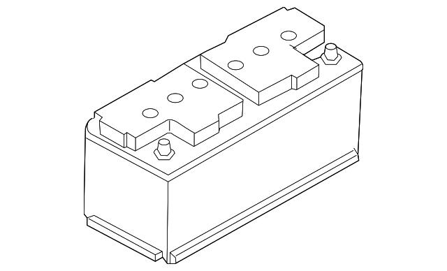 battery volkswagen 000 915 105 dl vwpartscente. Black Bedroom Furniture Sets. Home Design Ideas