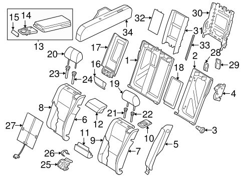 Rear Seat Components For 2014 Audi Rs7