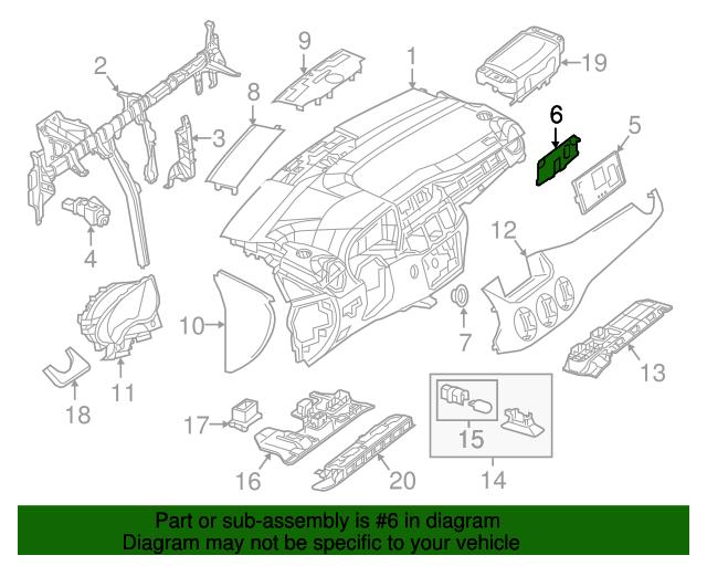 Center bezel bracket mercedes benz 246 689 02 14 mb for Mercedes benz part numbers list