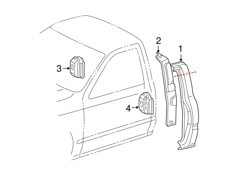 BODY/SIDE PANEL & COMPONENTS for 2001 Toyota Tacoma #3