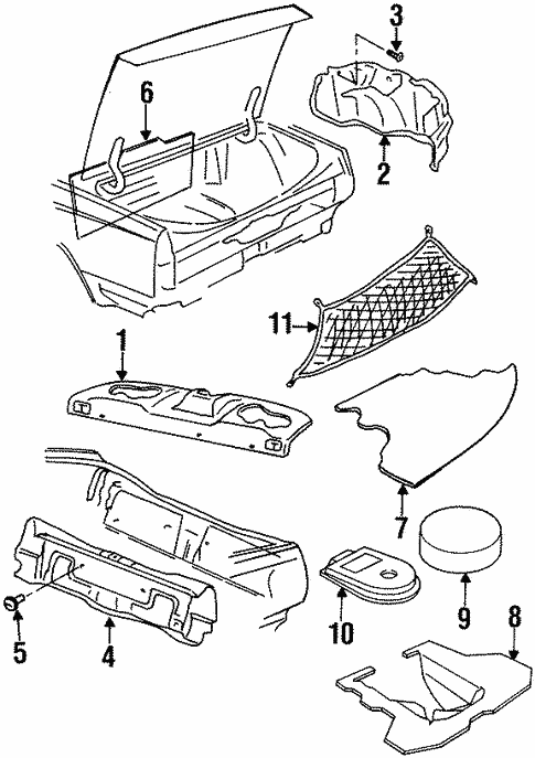 interior trim rear body for 1999 buick lesabre 1996 Buick LeSabre interior trim rear body for 1999 buick lesabre