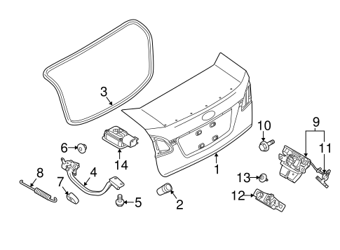 Lid Components For 2014 Ford Fiesta