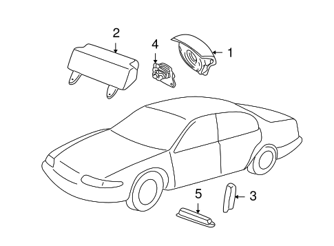 Electrical/Air Bag Components for 2001 Ford Focus #1