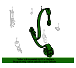 Belt & Retractor - Land-Rover (EVB103840LNF)