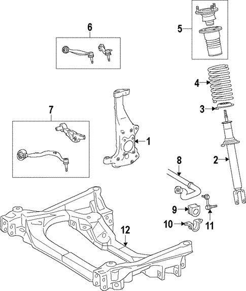 Suspension Components For 2009 Lexus Ls460