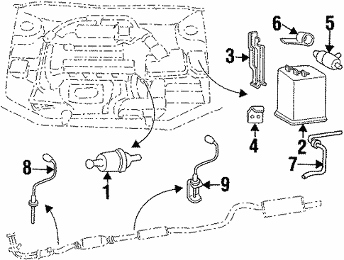 emission components for 2000 hyundai elantra