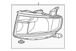 Headlight Unit, R - Honda (33101-SCV-A30)