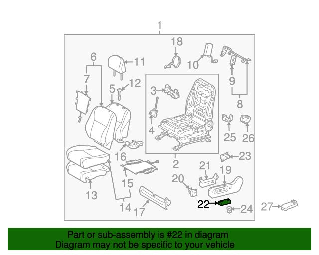 Toyota 84921-60080-A3 Power Seat Switch Knob
