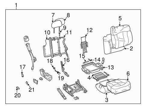 Oem 2003 Chevrolet Silverado 1500 Front Seat Components Parts