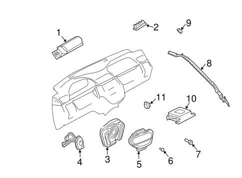 Air Bag Components For 2005 Mercedes Benz Ml 350