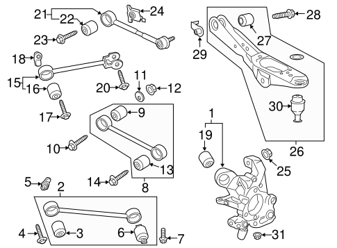 Rear Suspension For 2019 Ford Expedition