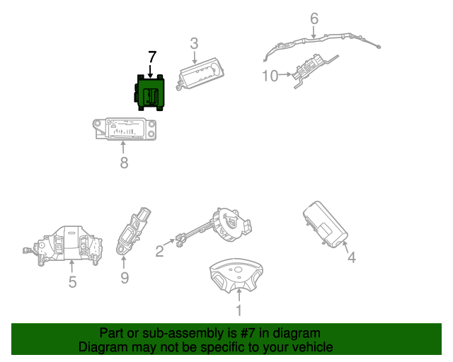 Occupant Module Mopar 4686943ai