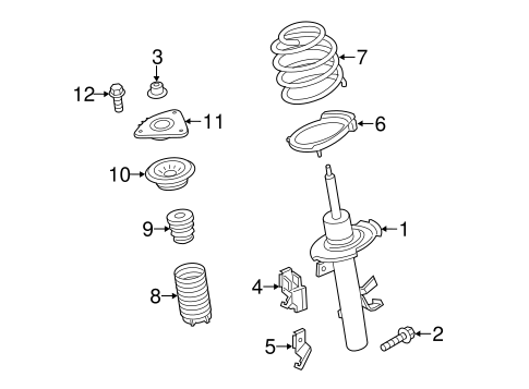 Front Suspension/Struts & Components for 2013 Ford Escape #1