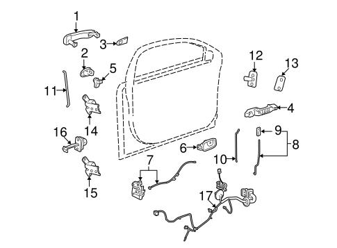 chevy saturn right passenger front door lock actuator oem