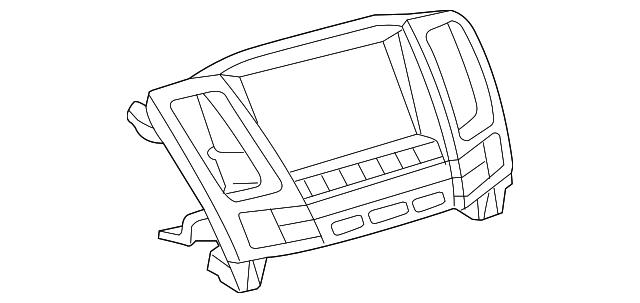 2008 Lexus Rx400h Dash Control Unit 86110 48480