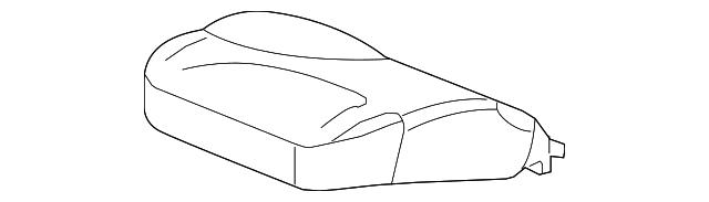 Honda Genuine 82527-TK6-A01ZA Seat Back Pad and Trim