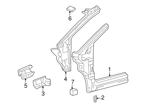 BODY/HINGE PILLAR for 2000 Toyota Sienna #1