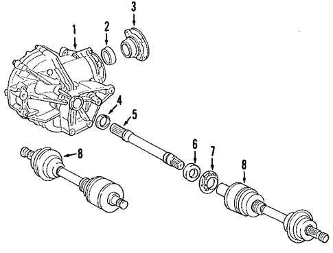 Front Axle for 2009 Mercedes-Benz E 320 #0