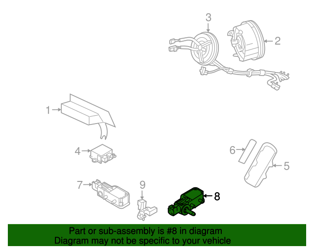 Ford Mustang Airbag Side Impact Sensor Assembly