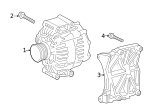 Alternator - Mercedes-Benz (000-906-08-22)