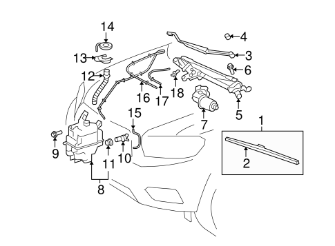 BODY/WIPER & WASHER COMPONENTS for 2009 Toyota Highlander #1