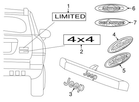 Exterior trim lift gate for 2015 jeep patriot parts - Jeep patriot exterior accessories ...