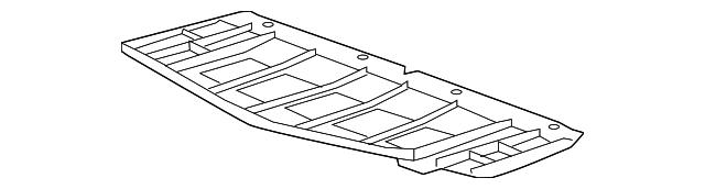 Chevrolet GM OEM 14-18 Corvette Front Bumper Grille-Front Deflector 23273619