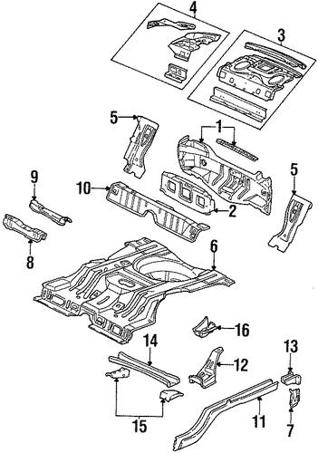 rear body parts for 1998 pontiac grand prix