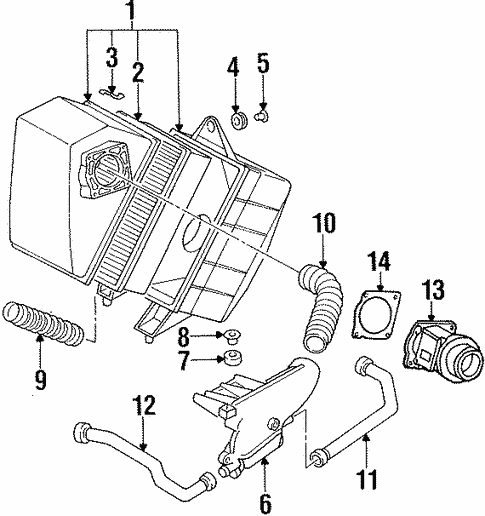 Air Intake For 1996 Audi Cabriolet