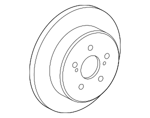 Disc Brake Rotor - Toyota (42431-02310)