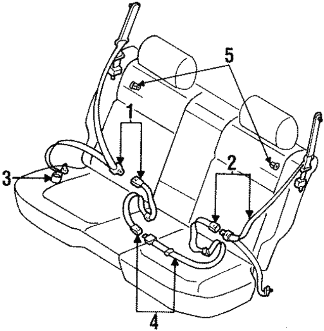 Belt & Retractor - Subaru (64669AC190MU)