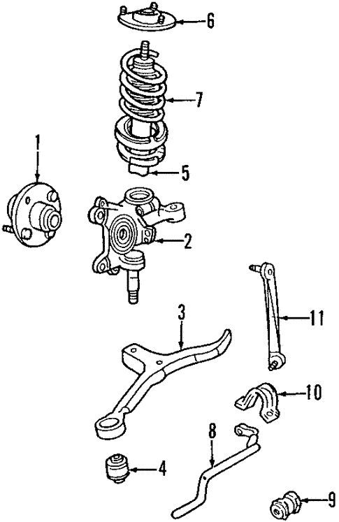 Front Suspension/Front Suspension for 2000 Ford Taurus #1