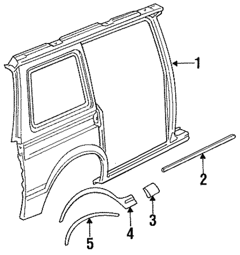 Exterior Trim - Side Panel for 1991 Chrysler Town & Country #1