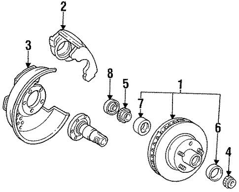 Front Brakes For 1993 Ford F 150
