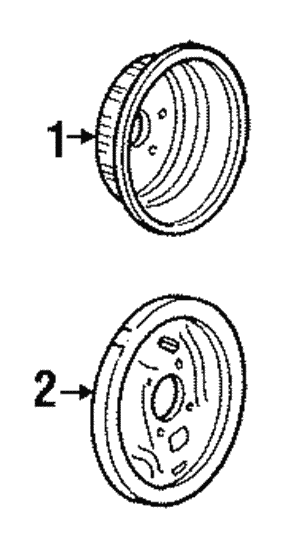 Brake Drum, Rear, Left, Right