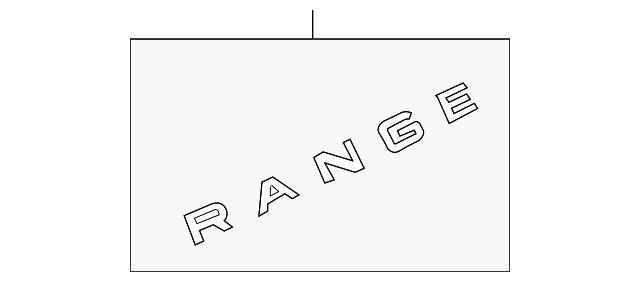 land rover nameplate lr094561 carlsbadlandroverparts