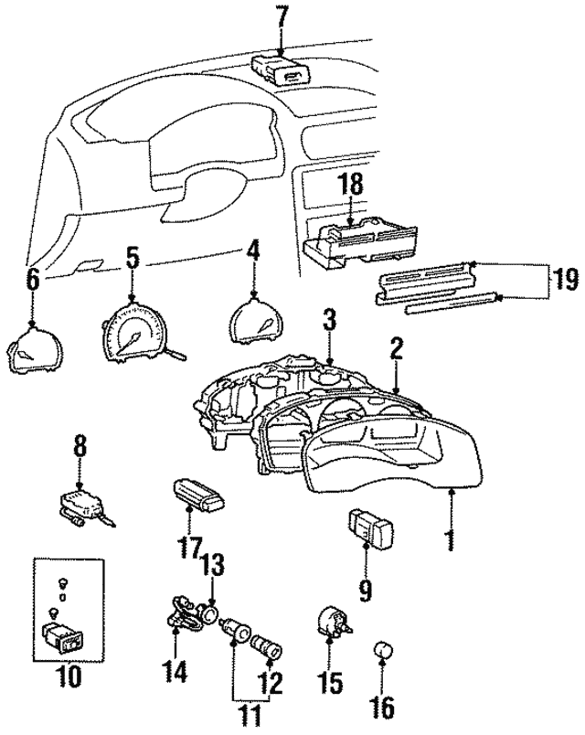 1998 toyota tercel face plate 55519 16260 curry toyota of connecticut VW Beetle Transmission Solenoid Diagram face plate toyota 55519 16260