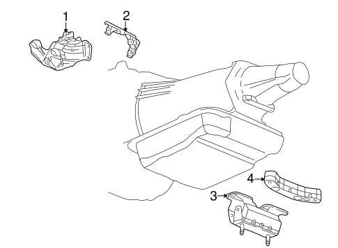 Engine Trans Mounting For 2006 Chevrolet Ssr