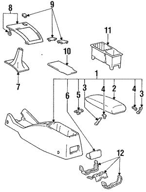 Toyota 58802-04151-B1 Console Box