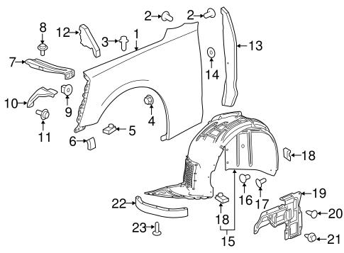Oem 2016 Chevrolet Camaro Fender Components Parts