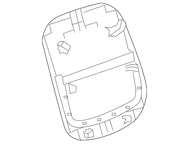 2013 Chevrolet Malibu Seat Back Panel 22842609