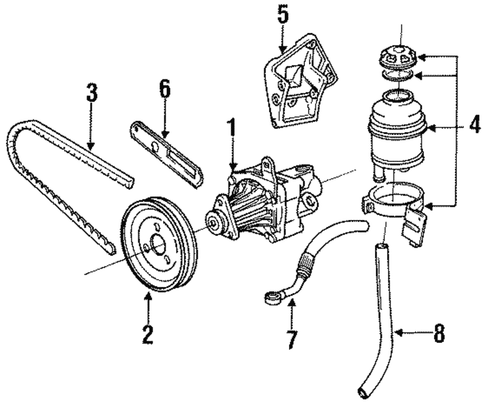 Genuine Bmw Power Steering Pump Adjust Bracket 12