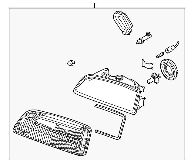 1999 Volvo C70 Transmission: Headlamp Assembly