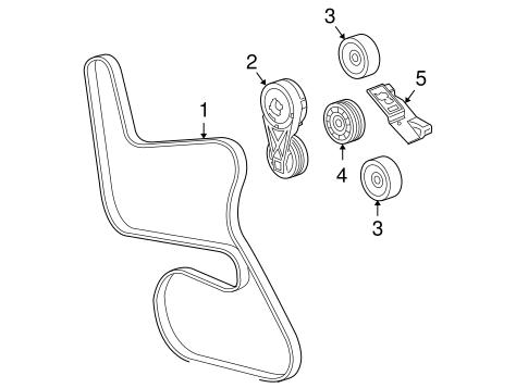 Belts Pulleys For 2005 Pontiac G6 Gm Parts Online