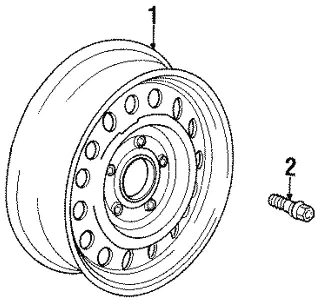 1994 2002 Bmw Wheel Steel 36 11 1 095 006